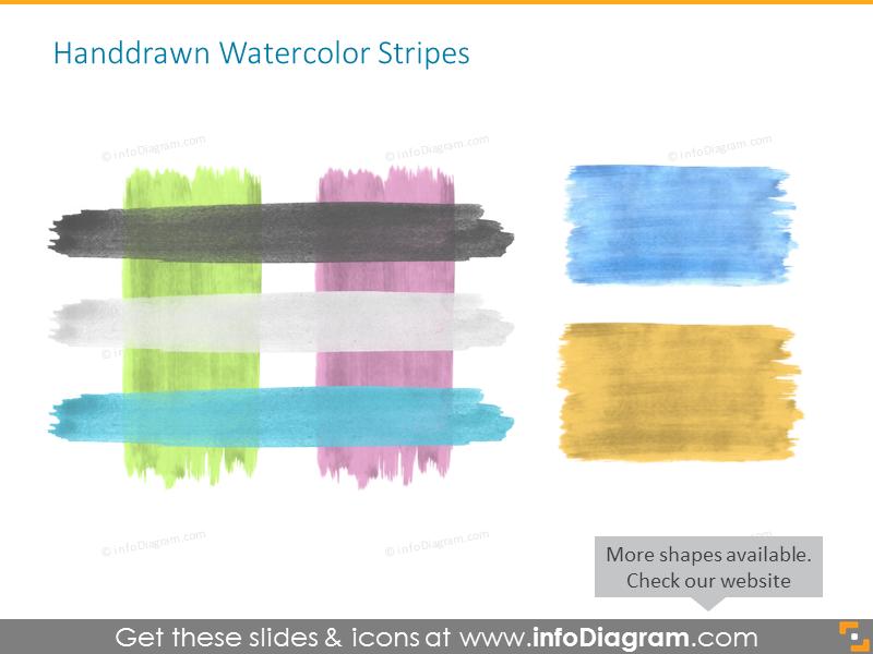 Hand Drawn Watercolor Stripes