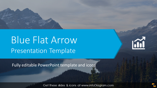 Blue Flat Arrow Presentation Template (PPTX slide deck)
