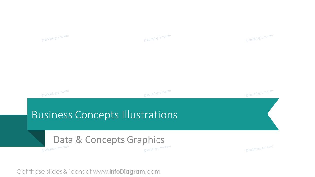 Business concepts illustrations section slide
