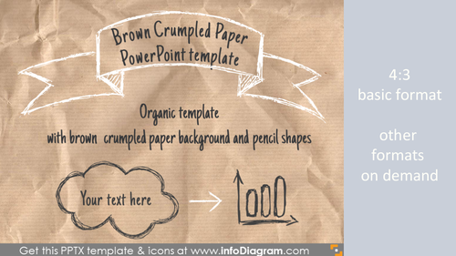 Brown Crumpled Paper PowerPoint Template PPTX