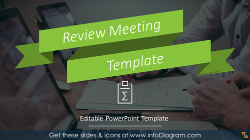 Status Review Meeting Template (PPT graphics)