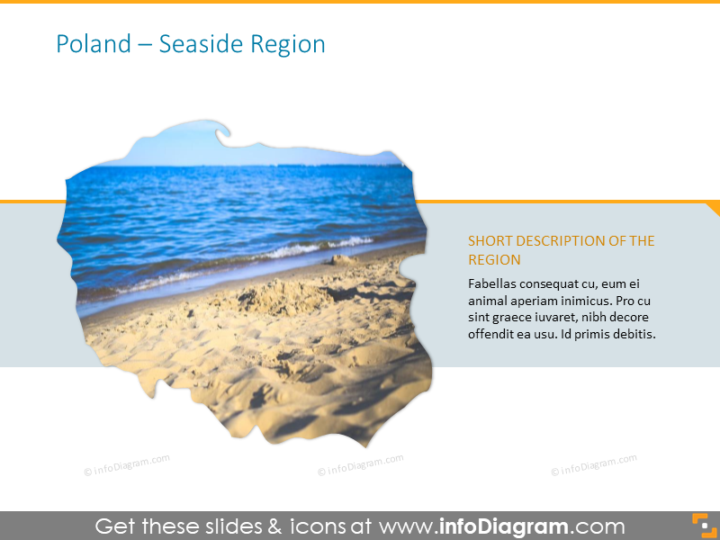 Seaside region Poland map with description