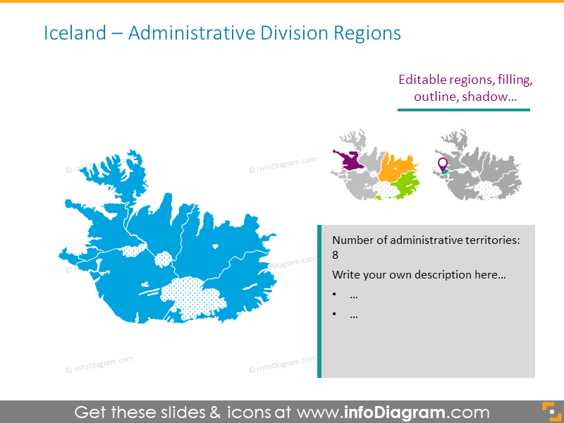 Iceland administrative division map