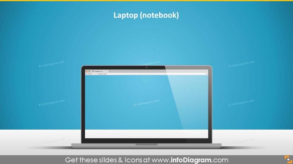 laptop notebook display imac desktop screen ppt vector clip art