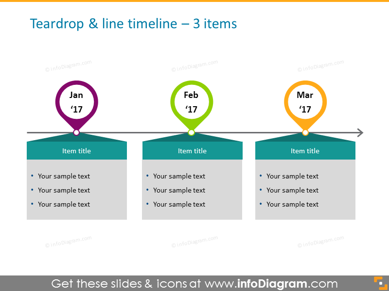 timeline infographicdesign template for 3 elements with textboxes