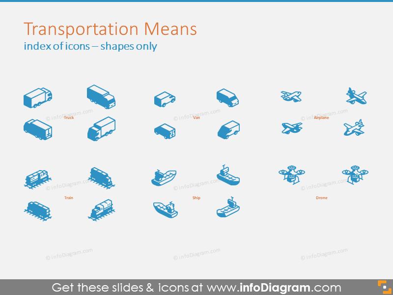 Transportation Means 3D shapes