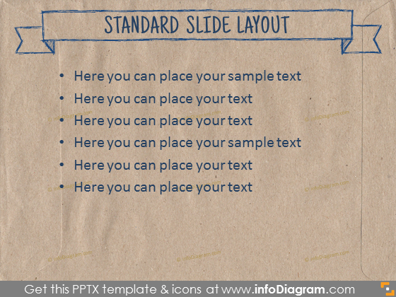 standard text slide layout section ecology paper brown pptx