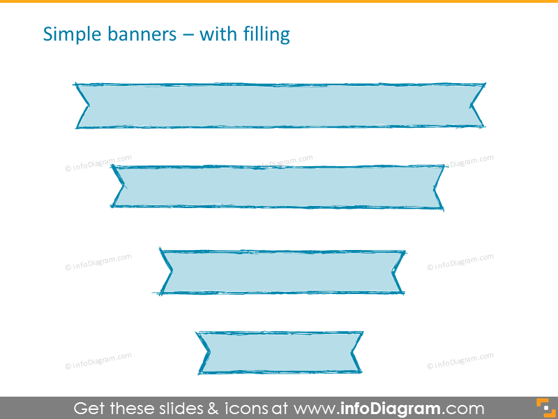 Simple banners with filling