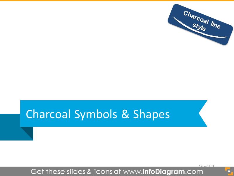 Charcoal symbols and shapes