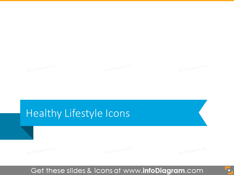 Healthy lifestyle icons block