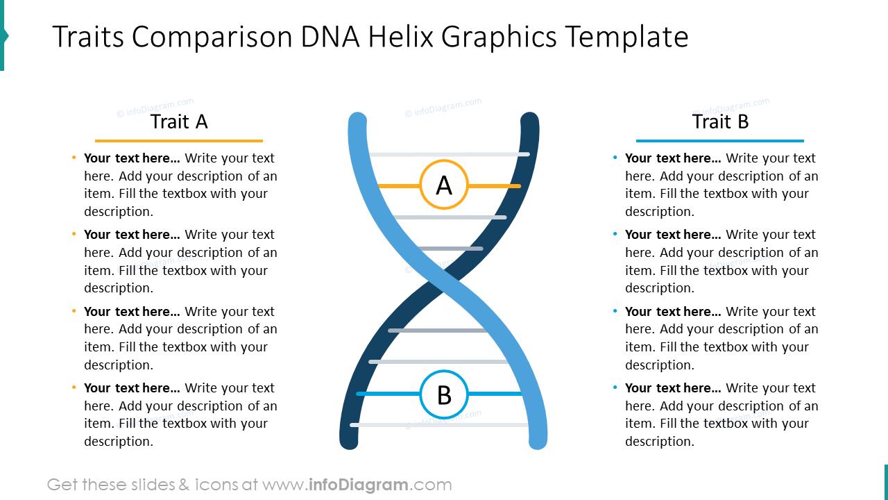 Traits comparison DNA Helix graphics