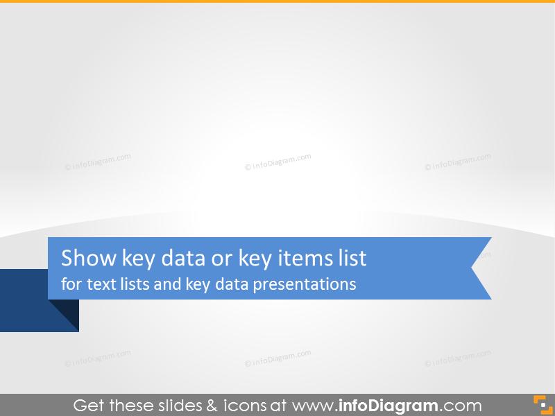 Key data and key items list