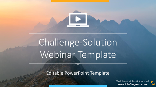 Webinar Presentation of Problem-Solution (PPT template)