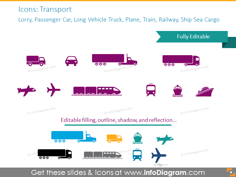 Lorry, Passenger Car, Truck, Plane, Train, Railway, Ship Sea Cargo