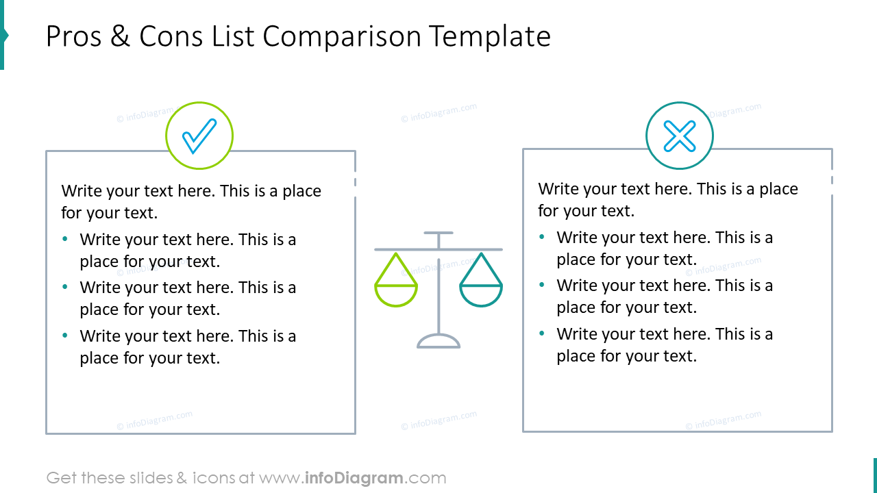 Pros and cons list comparison template