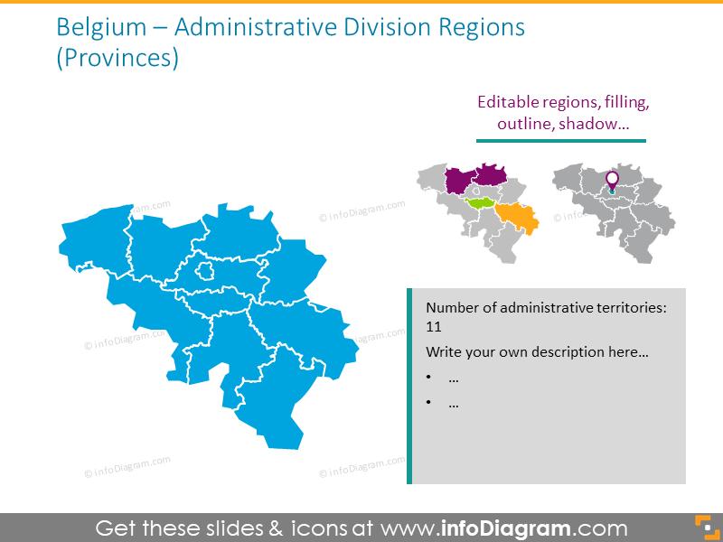 Belgium administrative division map