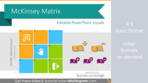 McKinsey Matrix Framework Diagram (PPT template)