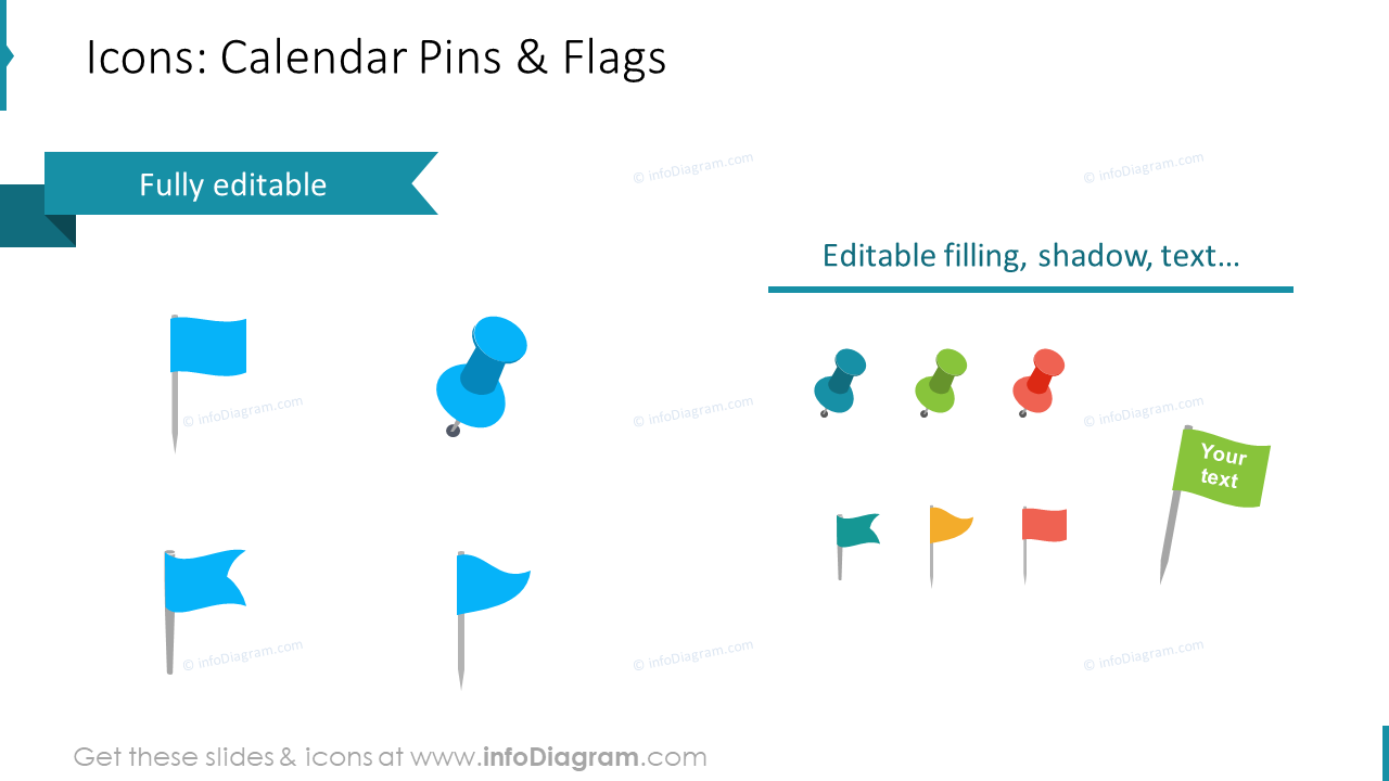 Calendars US Editable Icons