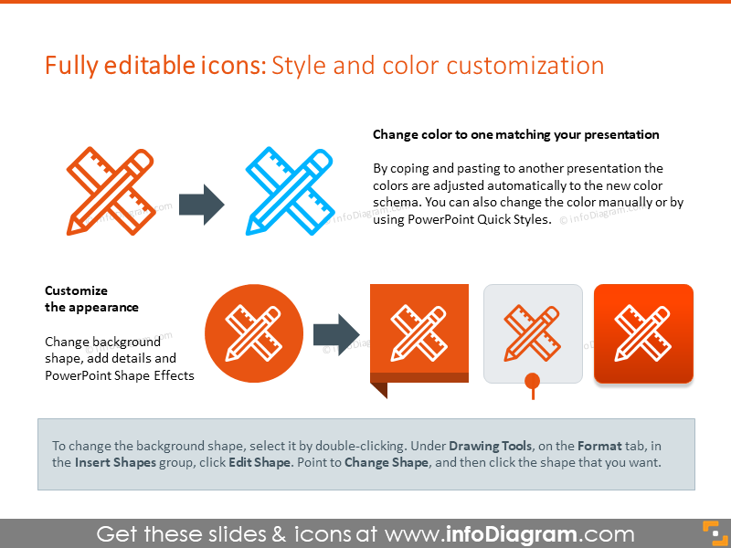 Example of style and color customization slide