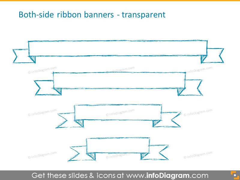 Both-side ribbon transparentbanners