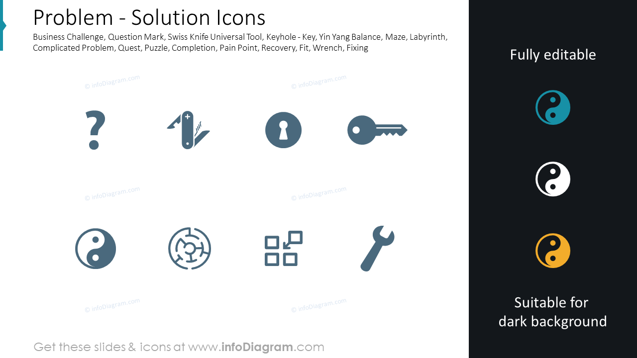 Problem - Solution Icons