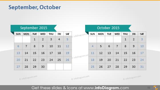September October school calendar 2015