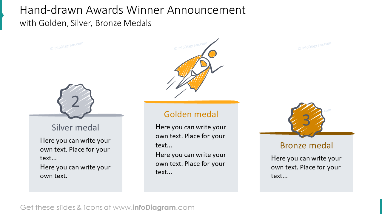 Awards winner announcement illustrated with hand-drawn style