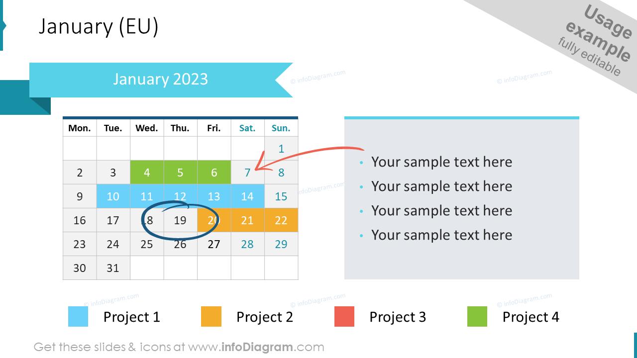 EU Calendar 2022 January Example