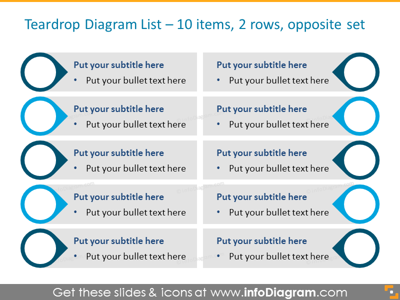 Infographics Template for 10 Items Opposite Set