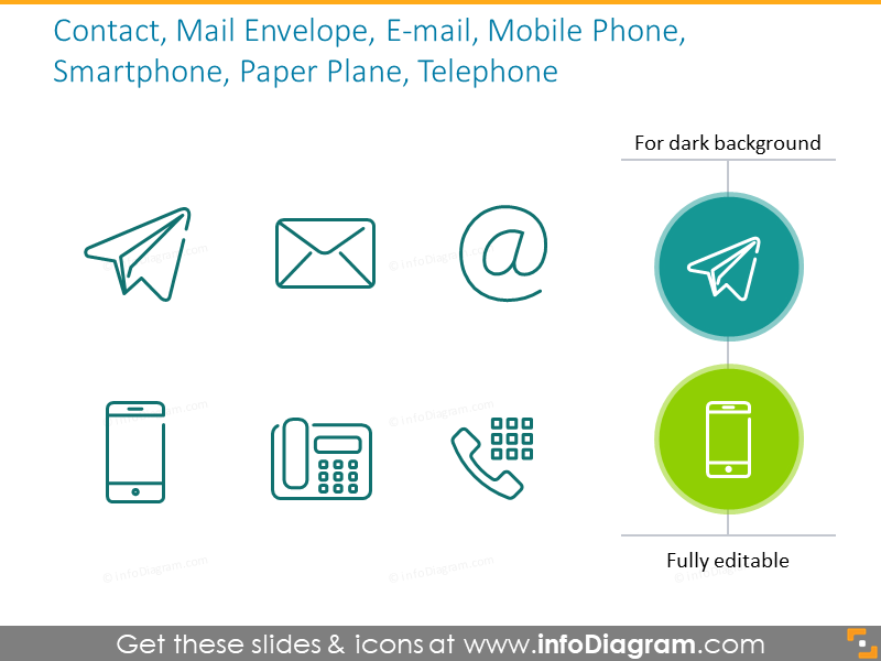 Contact, Mail Envelope, E-mail, Mobile Phone, Smartphone, Paper Plane, Telephone