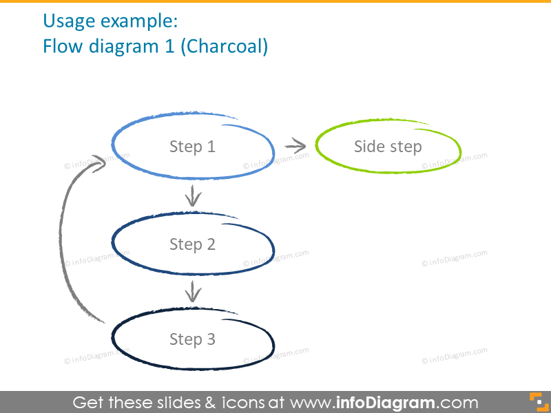 backboard charcoal arrow diagrams powerpoint clipart
