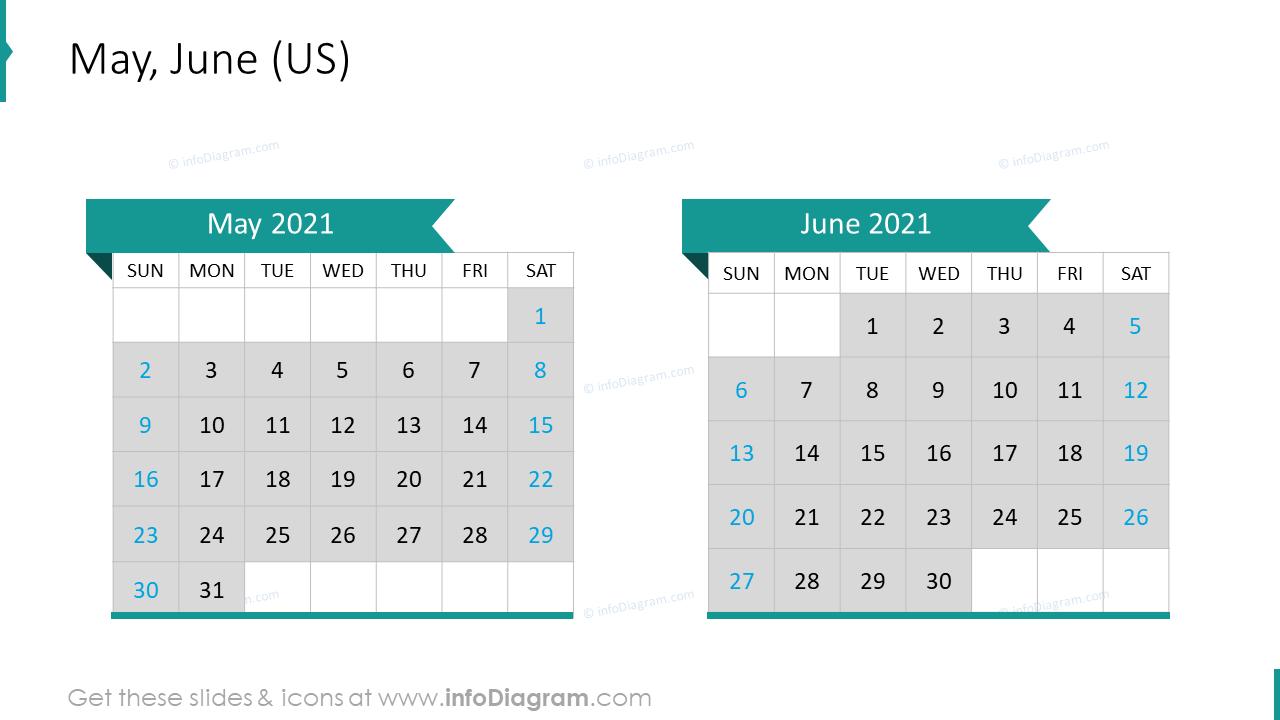 May June 2022 US Calendar