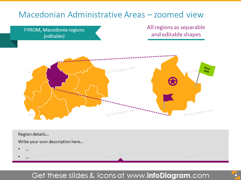 Macedonian Administrative Areas zoomed map