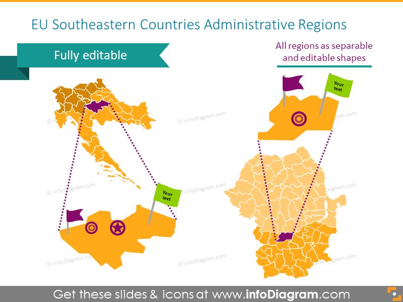 EU Southeastern Countries Administrative Regions