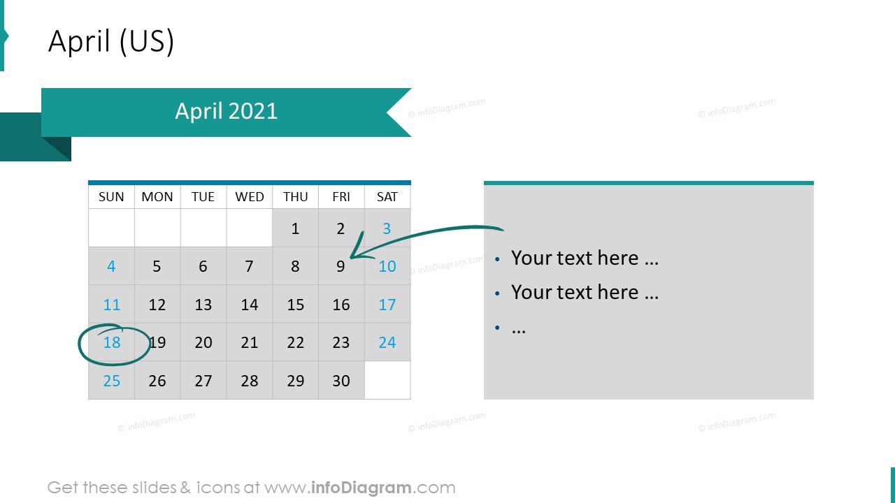 April 2020 US Calendars