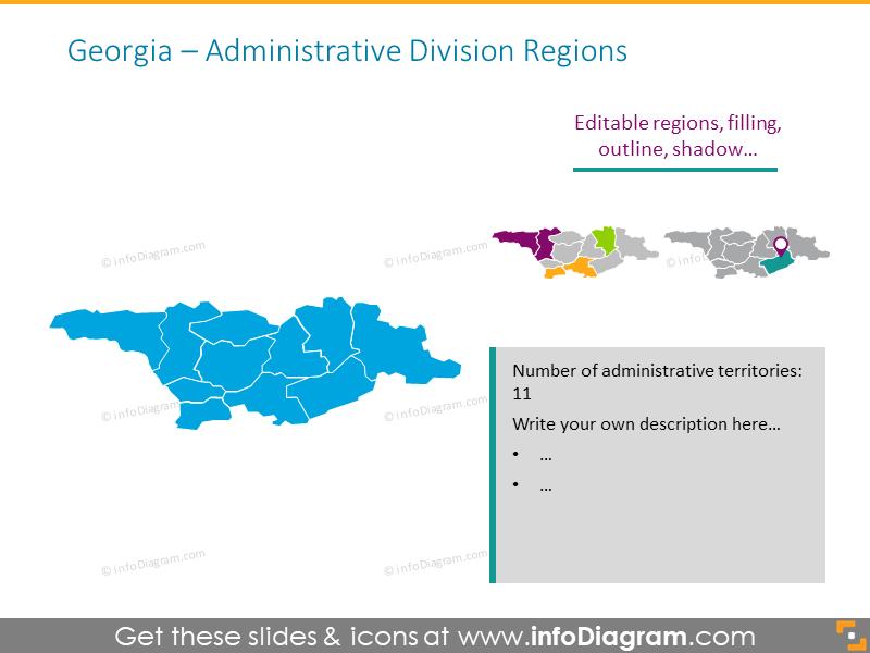 Georgia Administrative Regions map