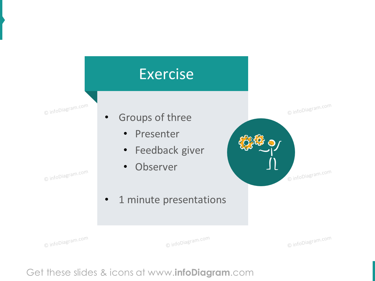 feedback training exercise icon powerpoint clipart