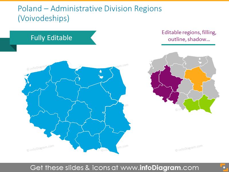 Administrative division regions of Poland