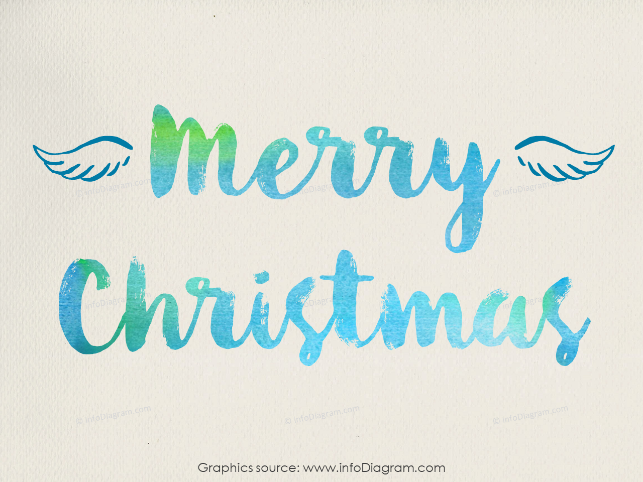 Merry christmas blue scribble icons powerpoint