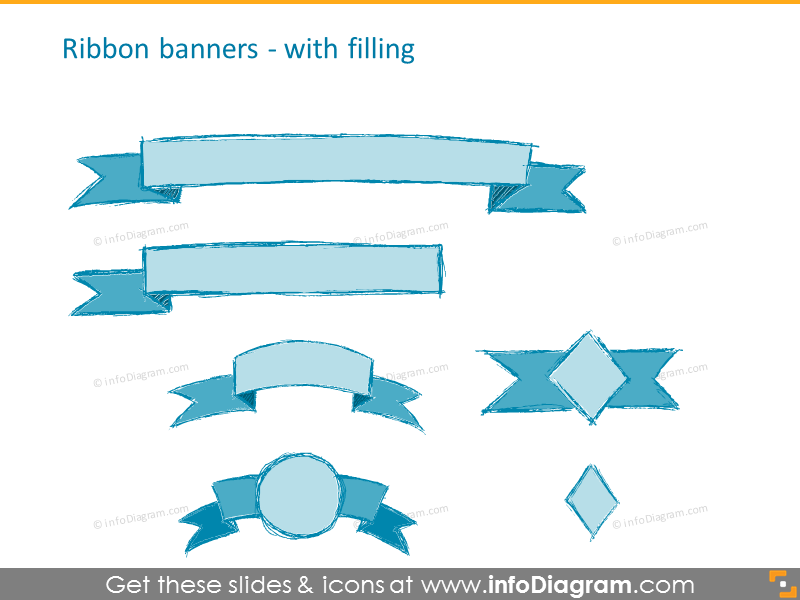 Ribbon banners with filling