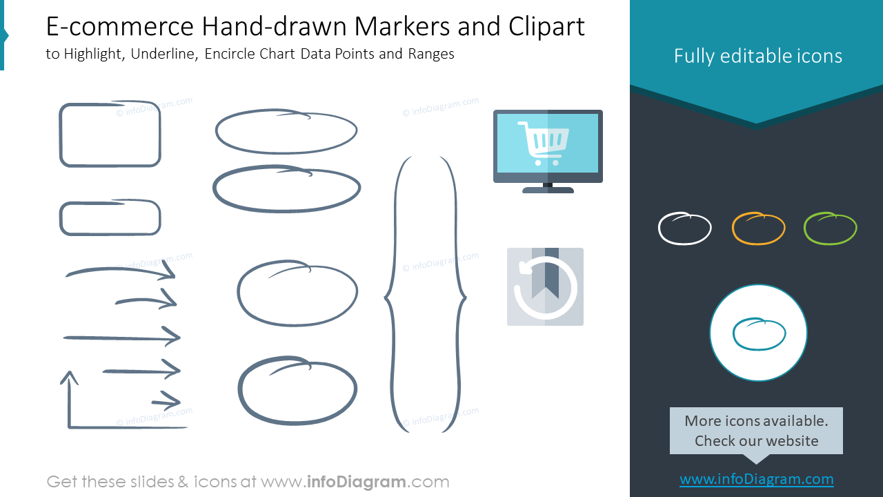 E-commerce Hand-drawn Markers and Clipart