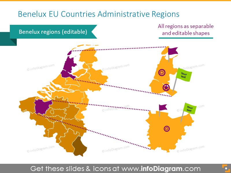 Benelux EU administrative map