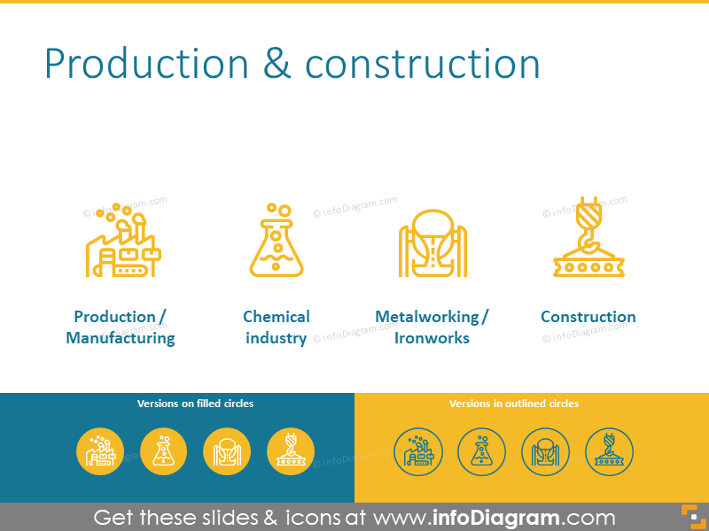 Production and construction icons