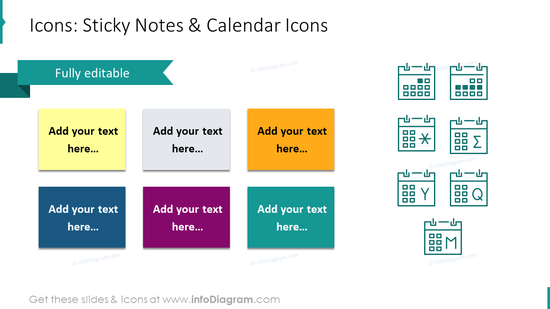 US Caledars Sticky Notes Icons