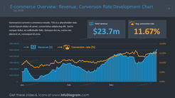E-commerce overview for presenting revenue and conversion rate