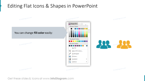 Editing flat icons in PowerPoint