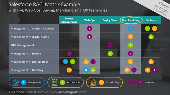 Salesforce RACI matrix example slide