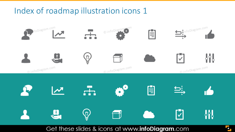 Index of roadmap illustration icons 1