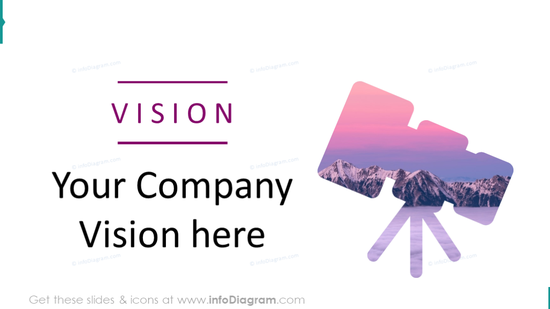 Example of the company vision creative slide