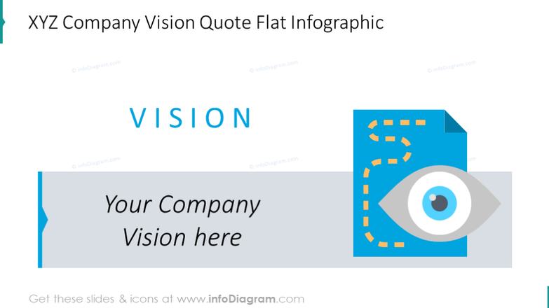 Company vision flat infographic slide